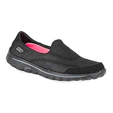 04503589b8449 Skechers Womens Go Walk 2 Linear Athletic and Outdoor Sandals: Amazon.co.uk:  Shoes & Bags