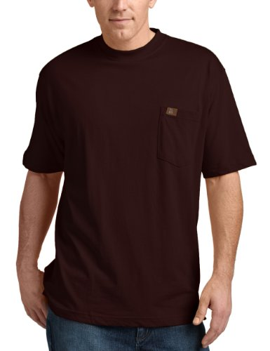 RIGGS WORKWEAR by Wrangler Men's Pocket T-Shirt, Burgundy, Large ()
