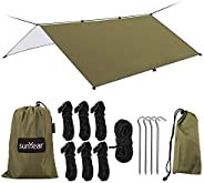 Hammock Rain Fly Tent Tarp Provides Effective Protection Against Rain, Snow. 13ft Long Ridgeline. Big 9.8x9.5f