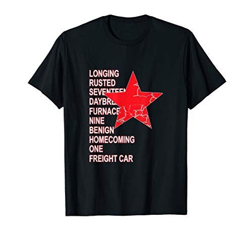 Red Soldier Star T-Shirt Trigger Words Hero ()