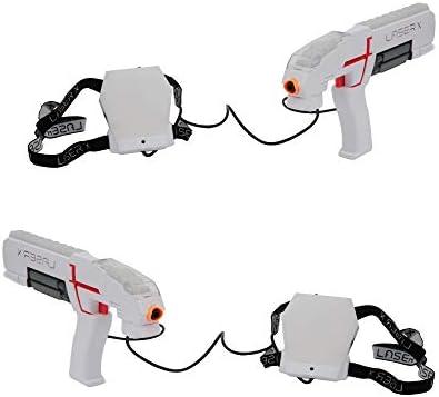 Giochi Preziosi Laser X Blaster, Indoor und Outdoor mit 2 Laser Blaster, 2 Empfänger, Licht und Sound, LAE00000