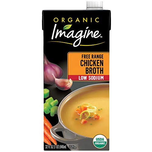 Imagine Organic Low-Sodium Free-Range Chicken Broth, 32 oz.