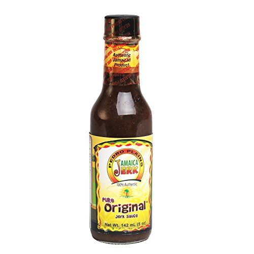 Pedro Plains Jamaica Pure Original Caribbean Jerk Sauce, 5 oz - Authentic Jamaican Jerk Sauce for Chicken, Pork, Shrimp, Fish, Beef, Steak, Vegetables, (Fish Steak Sauce)