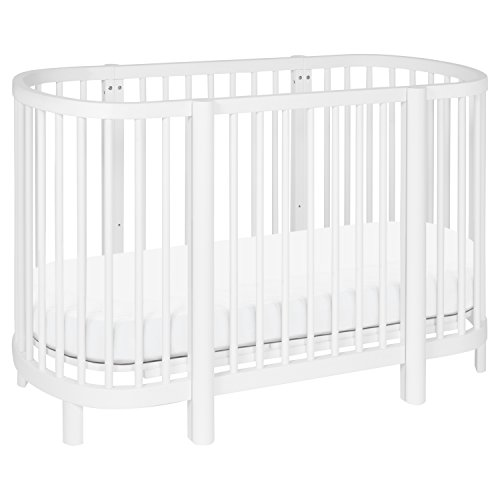 Cheap Babyletto Hula Oval Convertible Crib with Mini/Bassinet Conversion, White