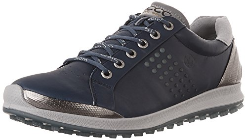 ECCO Men's Biom Hybrid 2 Golf Shoe, Denim Blue/Aquatic, 42 EU/8-8.5 M US