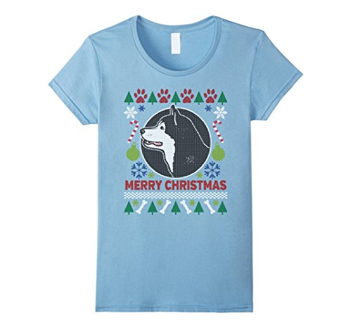 Women's Alaskan Malamute Dog Breed Owners Ugly Christmas T-shirt