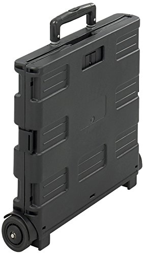 Safco Products 4054BL Stow-Away Crate, Black (Stow And Go Cart)