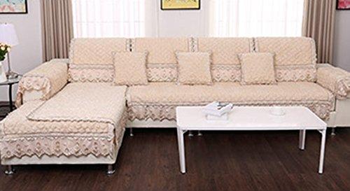 刺繍ローズ - ベージュイエローソファクッション、冬ノンスリップ布オールインクルーシブソリッドカラークッション、シックでシンプルなモダンソファカバー ( サイズ さいず : 110*240cm ) 110*240cm  B078RFNJ47
