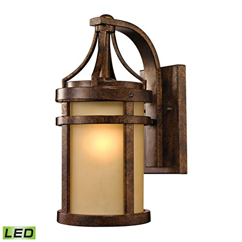 Winona Collection 1 light outdoor sconce in Hazelnut Bronze - LED Offering Up To 800 Lumens (60 Watt Equivalent) With Full Range Dimming. Includes An Easily Replaceable LED Bulb (120V).