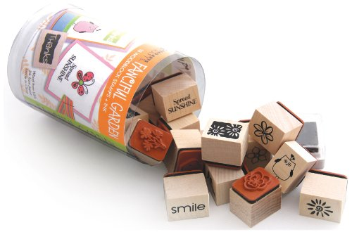 Hero Arts Woodblock Stamp Set, Fanciful Flowers Ink N Stamp by Hero Arts, Inc.