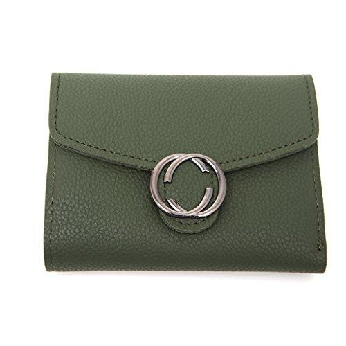 hndhui Frauen Mädchen Kurze Portemonnaie Geldbörse Organizer-Tasche klein CR ¨ ¦ gesagt Kartenschlitzen