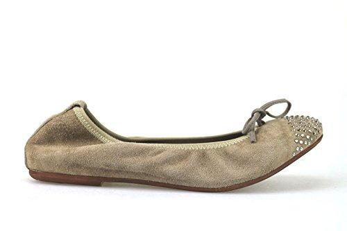 Crown Zapatos 36 AJ111 Bailarinas Gamuza Beige Mujer AJ111 wqxOv7qC5