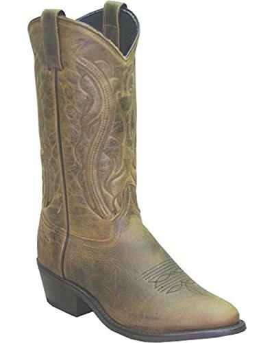- Abilene Men's Sage by Oiled Cowhide Olive Boot Medium Toe Brown 9.5 EE US