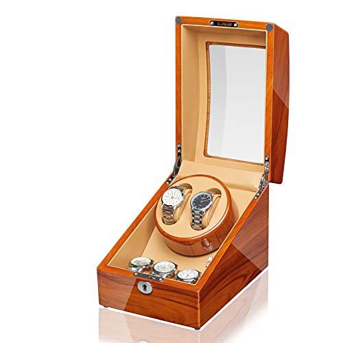 JQUEEN Automatic Watch Winder 2+3 Wood Storage Display Case Box