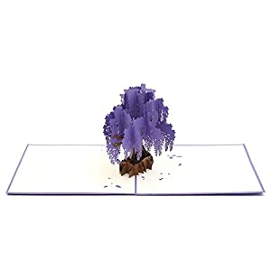 Liif Wisteria Purple Pop Up Greeting Card, 3D Tree Card, Pop Up Card for all occasions, Birthday, Mother's Day…