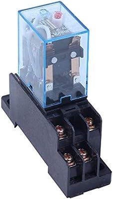 IBISHITAOXUNBAIHUOD Interruptor de CA 220V 10PCS Potencia de la bobina de rel/é DPDT LY2NJ 8 Pin PTF08A JQX-13F base del z/ócalo electr/ónica Micro Mini M/ódulo electromagn/ética