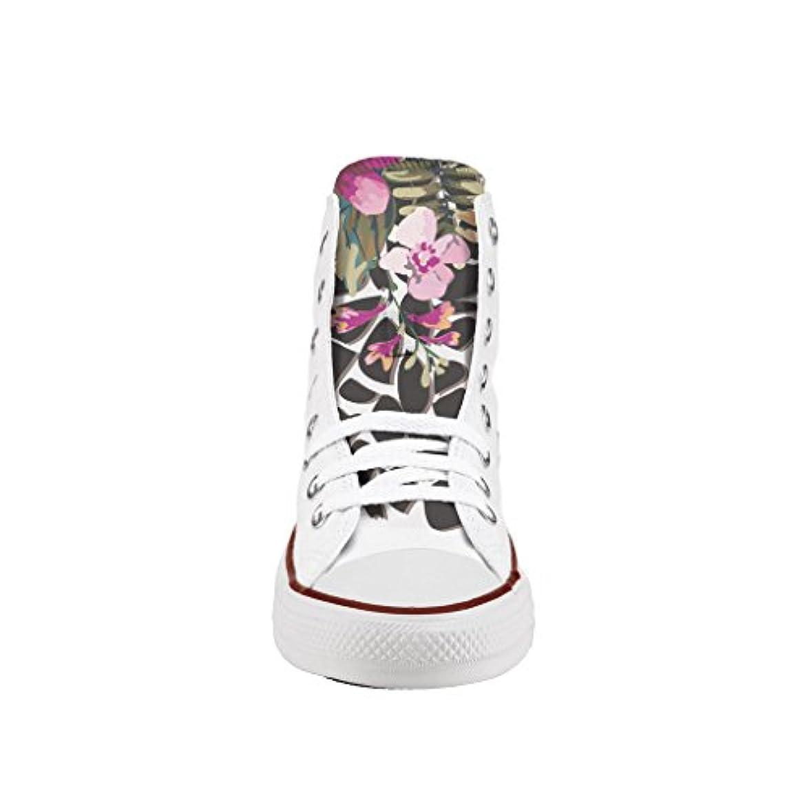 Converse Personalizzate All Star Alta - Scarpe Artigianali Stampa Spots And Flowers