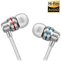 Earbuds Earphones Headphones Ear Buds Wired Stereo in Ear with Microphone Volume Control Best Waterproof Comfortable for Samsung Galaxy Cellphone Android mp3 Players Laptop Computers PC 3.5mm (Gold)
