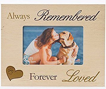 DOG MEMORIAL PICTURE FRAME: Always Remembered - Forever Loved (Photo Frame Dog)