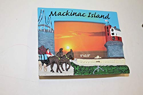 MACKINAC ISLAND raised ceramic picture frame