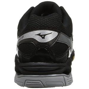 Mizuno Women's Wave Bolt 3 Volley Ball Shoe,Black/Silver,9.5 M US