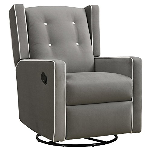 Dorel Living Baby Relax Mikayla Upholstered Swivel Gliding Recliner