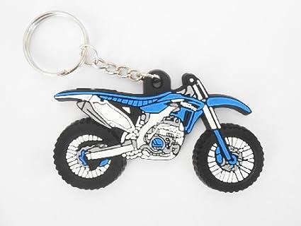 Llavero de moto Yamaha color azul, estilo motocross, de goma ...