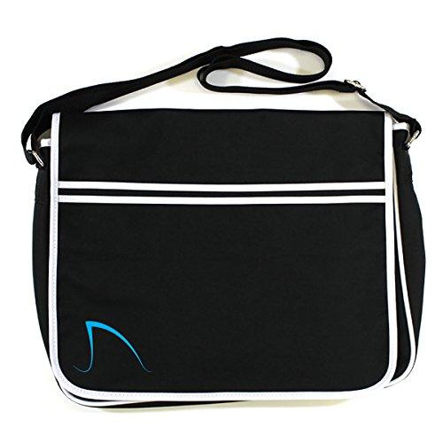 Black Blue Messenger Shack Retro Bag Jaws Logo Surf Amity Island w4tWqIzF