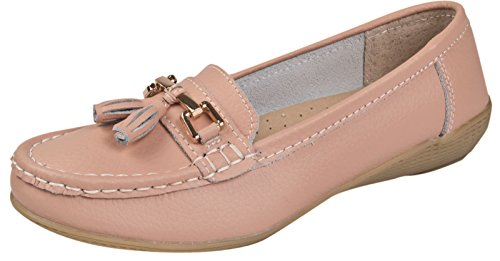 Lora Dora Womens Driving Comfort Shoes Baby Pink VpM6A