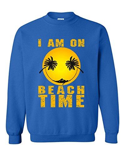 NIB Beach/Surf Sweatshirt I Am On Beach Time Unisex Crewneck (Beach Crewneck Sweatshirt)