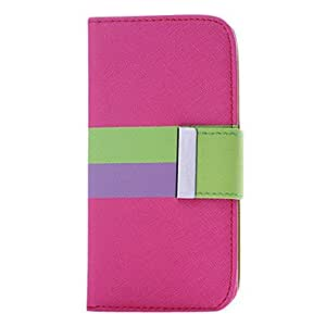 AES - Colorful Leather Wallet Flip Leather Case for iphone 5 , Green