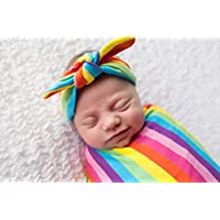 Rainbow Newborn Swaddle Set