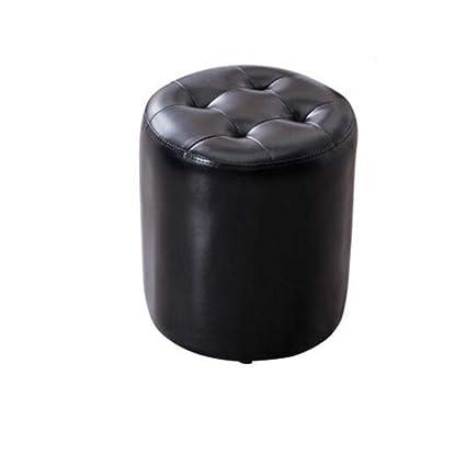 Admirable Amazon Com Ttd Soft Ottoman Round Faux Leather Sofa Stool Machost Co Dining Chair Design Ideas Machostcouk