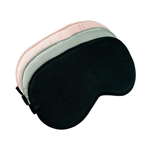 Sleep Mask, Super Soft Eye Masks with Adjustable Strap, Lightweight Comfortable Blindfold, Perfect Blocks Light for Men Women