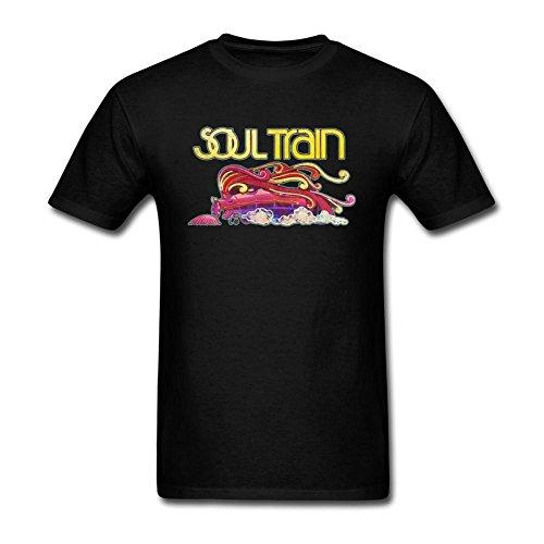 JuDian Soul Train Logo Art T Shirt for Men S ()