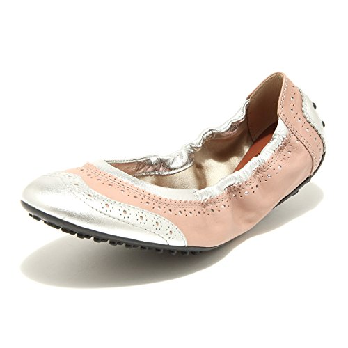 women shoes ballerina FORATURE scarpa rosa donna TOD'S DEE argento 89413 H07wYqSw