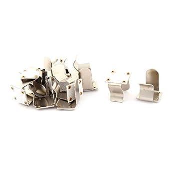 DealMux metal del hogar de picnic Mantel Mesa cubierta de sujetadores clip de la abrazadera 16 piezas de plata del tono: Amazon.es: Oficina y papelería