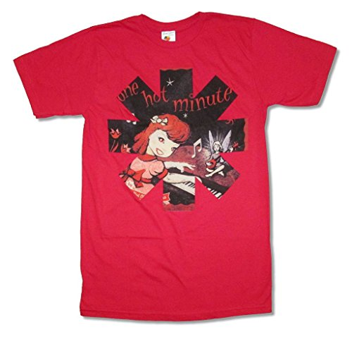 Red Hot Chili Peppers One Hot Minute Red T Shirt (S) (Red Hot Chili Peppers Guitarist John Frusciante)