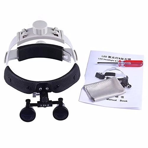 Ocean Aquarius 3.5 X-R Binocular Loupes Black Headband Surgical Medical Glasses DY-108