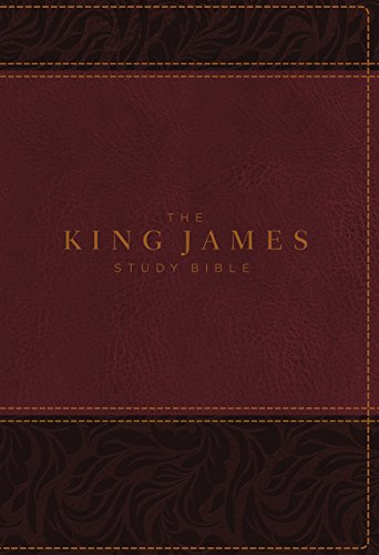 KJV, The King James Study Bible, Leathersoft, Burgundy, Red Letter, Full-Color Edition: Holy Bible, King James Version