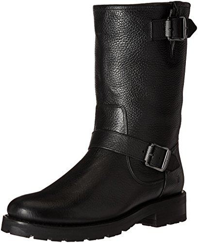 Winter Mid Shearling US 8 M Lug Boot Women's Engineer Black Natalie Frye qXEYwUq
