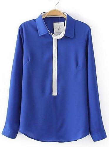 Blusa Elegante De Las Mujeres Camisa (muselina) Casual – Long ...