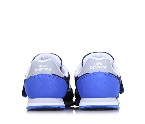NEW BALANCE - Zapatilla deportiva 373 infant azul, de tejido sintético y microfibra, con cierre de velcro, logo lateral, trasero, Niño, Niños Azul
