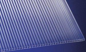 Polycarbonat Stegplatten Hohlkammerplatten klar 3000 x 1050 x 6 mm