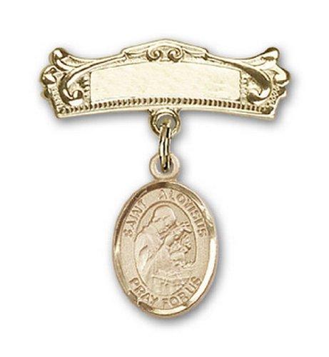 Icecarats Or Bijoux De Créateurs Rempli R. Aloysius Charme Gonzaga Broches Badge Arc 7/8 X 3/4