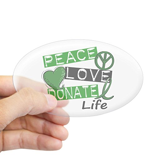 CafePress PEACE DONATE Sticker Bumper