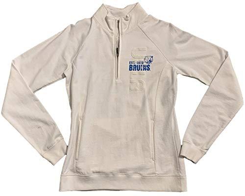 - Gear for Sports UCLA Bruins Womens 1/4 Zip White Fleece Pullover (M)
