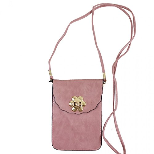 Crossbody Case Sex LeahWard Across Brown Uni Body Bags 828 Phone Pink Bag Button Men's Bag Small Women's LeahWard Mini Phone wCCntHqS