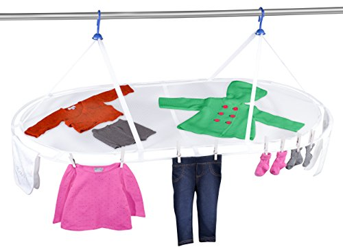 "Jumbo Hanging Dryer - 54"" X 28"" - Dry Sweaters and Other Apparel that Need to be Laid Flat to Dry in Order to Maintain their Shape. Mesh Material Allows (Jumbo Hanging)"