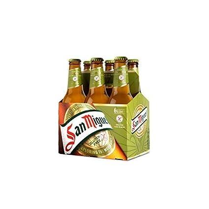 San Miguel Especial Sin Gluten Cerveza Dorada Lager, 5.4 ...